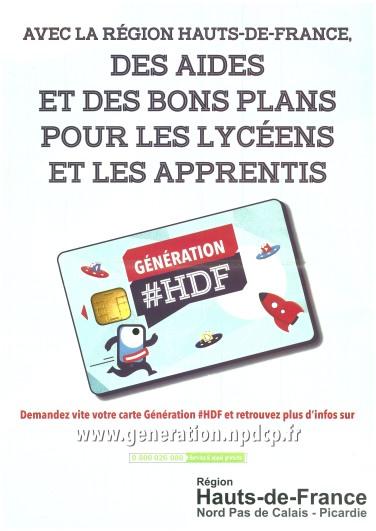 affiche carte HDF