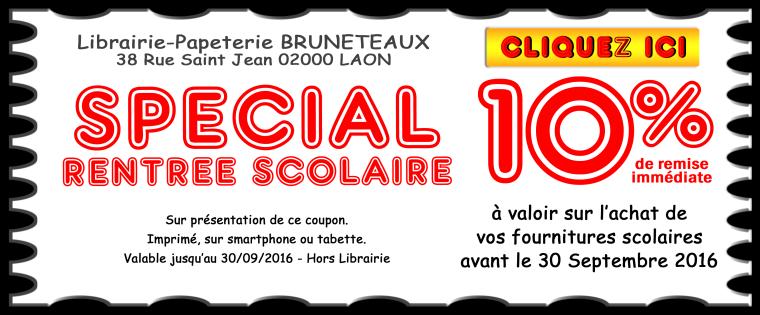 coupon promo fournitures TOUT LE MONDE