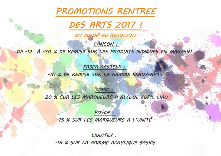AFFICHE RENTREE DES ARTS